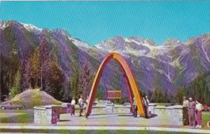 Canada Commemorative Memorial At Summit Of Rogers Pass In Glacier National Pa...