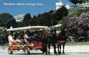 Postcard Mackinac Island Carriage Tours Michigan