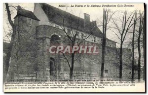 Old Postcard The postern and the ancient Roman fortifications Gallo
