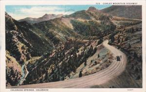 Colorado Colorado Springs Corley Mountain Highway 1930 Curteich