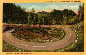 Great Smoky Mountains National Park Loop Over On Newfound Gap Hig...