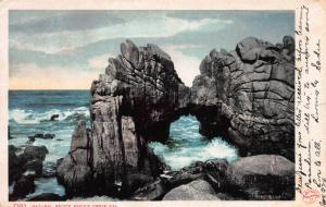 Natural Bridge, Pacific Grove, California, Very Early Postcard, Used