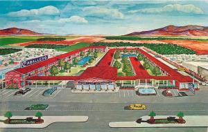 EL PASO, Texas  TX    Roadside  CABELLERO Motor Hotel   ca 1960s   Postcard