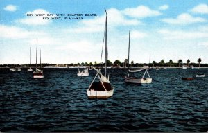 Florida Key West Bay With Charter Boats