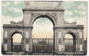 Kent; Memorial Arch, Old Brompton PPC By Thornton Bros, Unused, c 1910's