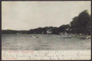North Shore,Twin Lakes,WI Postcard