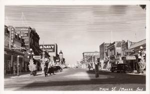 RP: MOOSE JAW , Sask. , Canada , 1930-40s ; Main Street, Christmas Trees