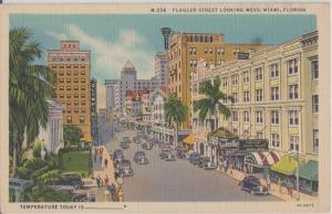 MIAMI - 1930s view of FLAGLER STREET downtown - OLD CARS + more