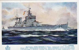 H.M.S. Howe, Battleship, King George V Class, A.R.D. Bannister, 10-20s