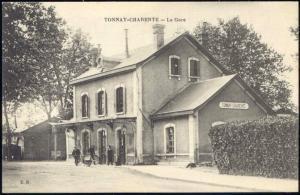 france, TONNAY-CHARENTE, La Gare, Railway Station (1910s)