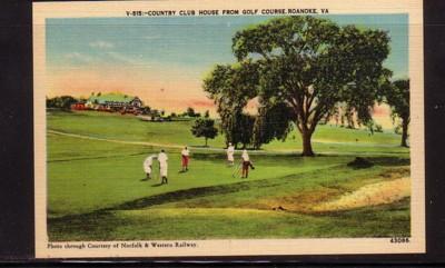 Virginia Postcard Country Club House Roanoke