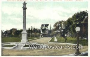 Quebec Canada, du Canada Wolfe's Monument on the Plains of Abraham  Wolfe's M...