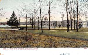 Lansing Michigan Reo Motor Car Works Factory Antique Postcard J44526