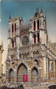 Hand Coloured Real Photo Postcard AMIENS, The Cathedral, France F76