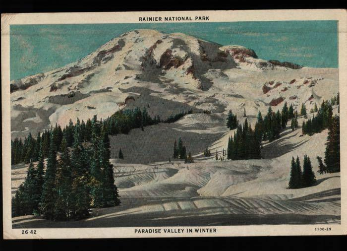 Paridise Inn Tacoma WA Mt Rainer National Park Watsonville Postcard B06