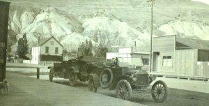 Circa 1905-10 RPPC Downtown Ashcroft, BC Cars Signs Real Photo Postcard F1