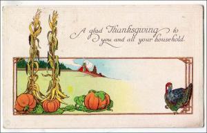 Greeting - Thanksgiving, Scene, Turkey