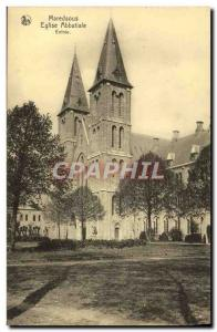 Old Postcard Maredsous Abbey Church Entree