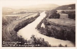 America's Ideal View From Capon Mountain West Virginia Real Photo