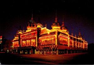 South Dakota Mitchell World's Only Corn Palace At Night