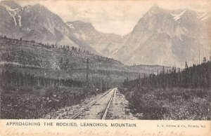 British Columbia Canada birds eye view Leanchoil Mountain antique pc ZC549256