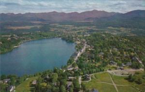 New York Lake Placid Aerial View