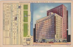 Illinois Chicago Harrison Hotel Curteich