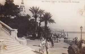 Monaco Monte Carlo Le Theatre et les Terrasses Real Photo