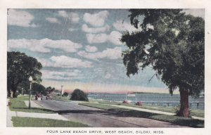 BILOXI, Mississippi, PU-1942; Four Lane Beach Drive, West Beach
