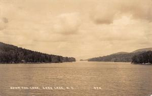 Long Lake New York Waterfront Real Photo Antique Postcard K93426