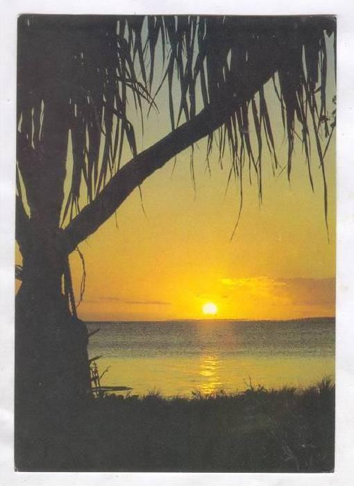 Sunset from Nuku' alofa foreshore , TONGA, 50-70s