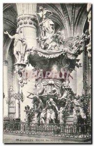 Old Postcard Brussels Eglise Ste Gudule