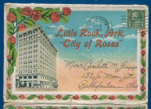 Little Rock Arkansas ar 1930s postcard folder