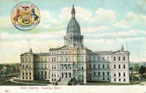 Postcard State Capitol Lansing Michigan