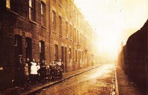 Postcard Nostalgia 1923 Gales Garden Slums in Bethnal Green LONDON Repro Card