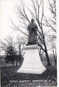 Iowa Decorah Luther Monument Real Photo