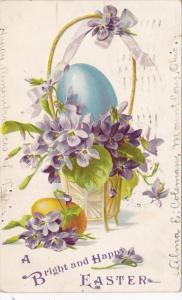 Tucks Happy Easter Egg In Bassket 1907