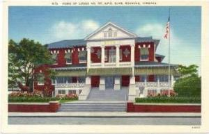 Home Of Lodge No. 197, B.P.O. Elks, Roanoke, Virginia, 1930-1940s