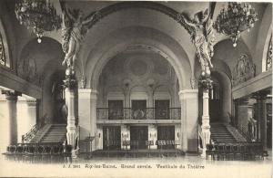 CPA J. J. 2841 AIX-les-BAINS - Grand cercle vestibule du Theatre (124646)