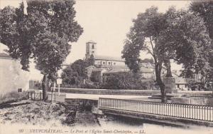 Le Pont Et l'Eglise Saint-Christophe, Neufchâteau (Vosges), France, 1900-1910s