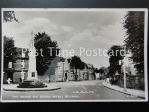 West Mildlands SOLIHULL The Square & George Hotel - Old RP Postcard by Valentine