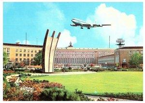 Posted Berlin Germany, Mit Luftpost Souvenir German Olympic Stamp 1968 Postcard