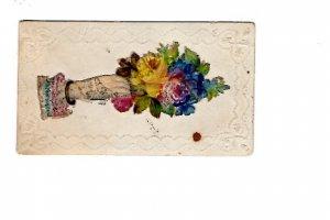 Fancy Victorian 2 X 3 1/2 iinch. Calling Card,  Name Inside Name Gesner