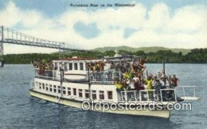 Excursion Boat On The Mississippi River, USA Ferry Ship Unused