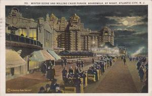 New Jersey Atlantic City Winter Scene And Rolling Chair Parade Boardwalk By N...