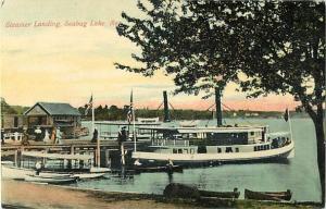 Steamer Landing, Seaburg Lake, Maine, ME, Divided Back