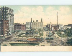 Divided-Back PUBLIC SQUARE Cleveland Ohio OH F1254