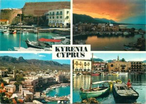 Postcard Cyprus Kyrenia several aspects