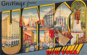 Greetings from Utica NY Unused