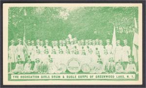 Greenwood Lake NY Recreation Girls Drum & Bugle Corps Marching Band Postcard